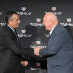 NEW YORK, NY - NOVEMBER 09: Brian Krzanich and Jean-Claude Biver attend the TAG Heuer Connected Watch event on November 9, 2015 in New York City.  (Photo by Craig Barritt/Getty Images for Tag Heuer)