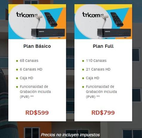 Cable Satelital HD Telecable Tricom